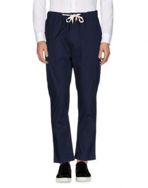Повседневные брюки THE EDITOR. Цвет: темно-синий