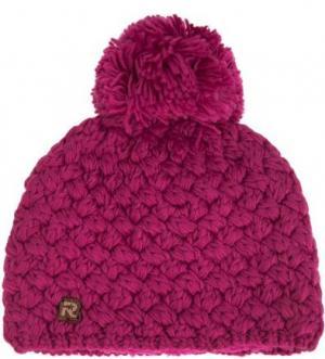 Однотонная вязаная шапка R.Mountain. Цвет: фуксия