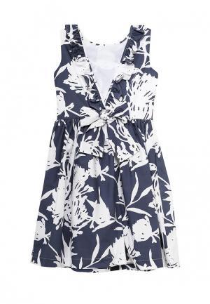 Платье Il Gufo. Цвет: синий
