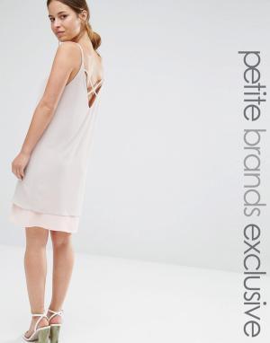Alter Petite Платье-комбинация. Цвет: розовый