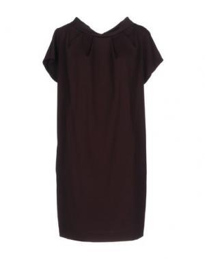 Короткое платье WALTER VOULAZ. Цвет: баклажанный