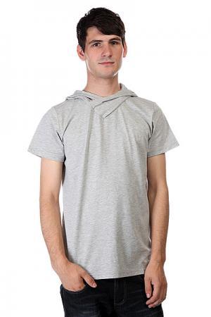 Футболка  Hood Grey Melange CLWR. Цвет: серый