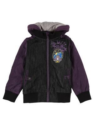 Куртка Born. Цвет: фиолетовый, черный