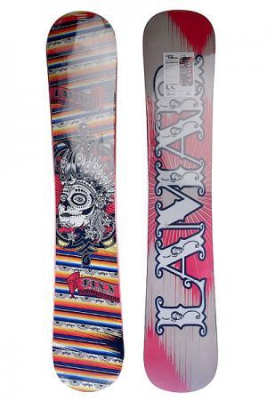 Сноуборд  Fixx Anti Cam Sidewall 163w Multicolor Lamar. Цвет: мультиколор