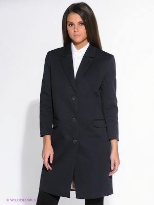 Пальто SELECTED. Цвет: темно-синий