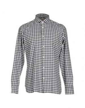 Pубашка LUIGI BORRELLI NAPOLI. Цвет: стальной серый