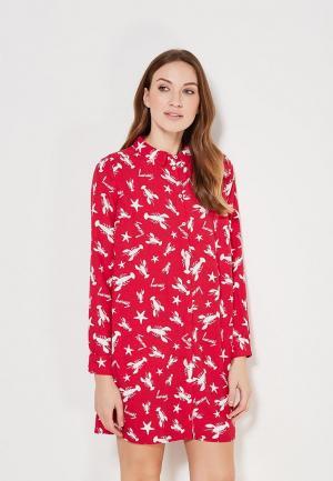 Платье Tommy Jeans. Цвет: красный
