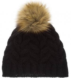 Вязаная шапка с помпоном CANADIAN. Цвет: черный