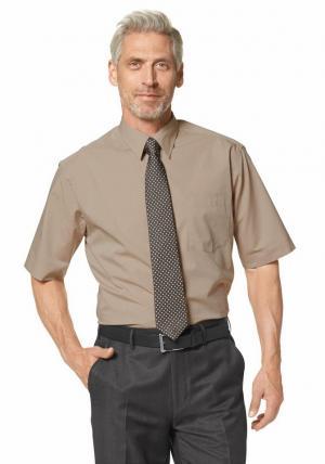 Рубашка с коротким рукавом Otto. Цвет: коричневый