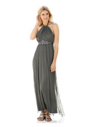 Платье макси Rick Cardona. Цвет: оливковый