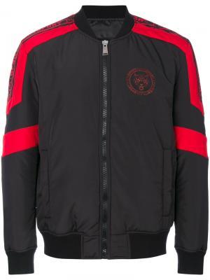 Куртка-бомбер с панельным дизайном Plein Sport. Цвет: чёрный