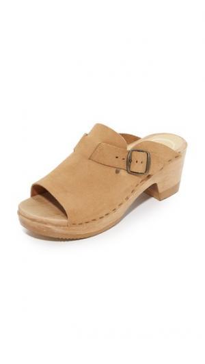 Клоги Sadie на среднем каблуке No.6. Цвет: коричневый
