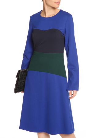 Платье миди NATALIA PICARIELLO. Цвет: синий
