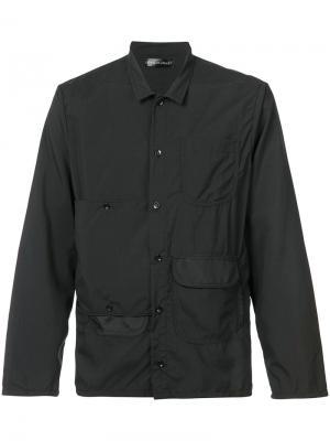 Рубашка с карманами Longjourney. Цвет: чёрный