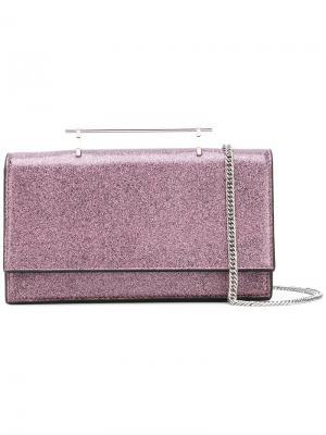 Сумка с блестками Alexia M2malletier. Цвет: розовый и фиолетовый