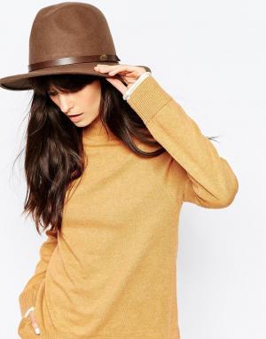 Christy's Шляпа-федора из шерстяного фетра с широкими полями Christys Safari. Цвет: dark brown