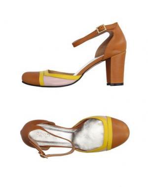 Туфли GIONATA. Цвет: желто-коричневый