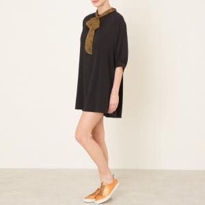 Платье струящееся с платочным рисунком SISTER JANE. Цвет: черный