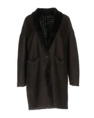 Пальто VINTAGE DE LUXE. Цвет: темно-коричневый