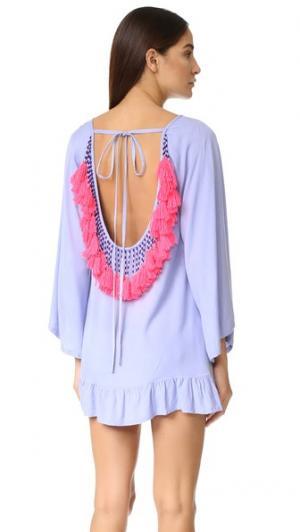 Платье Indiana SUNDRESS. Цвет: голубой/неоновый коралловый