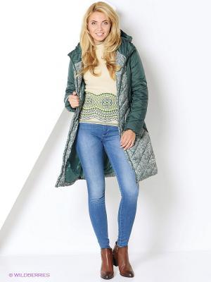 Пальто DizzyWay. Цвет: зеленый