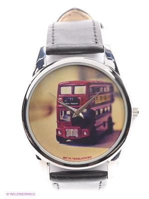 Часы Mitya Veselkov Лондонский автобус. Цвет: черный