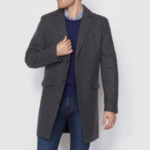 Пальто из шерстяного драпа R essentiel. Цвет: антрацит
