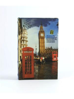 Шкатулка-фолиант Лондон 21*14*3см Русские подарки. Цвет: синий, коричневый, голубой, красный