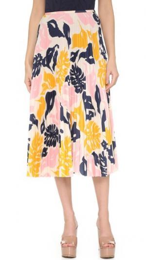 Плиссированная юбка Cedric Charlier. Цвет: мульти