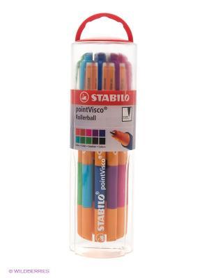 Ручка, 10 цв. Stabilo. Цвет: красный