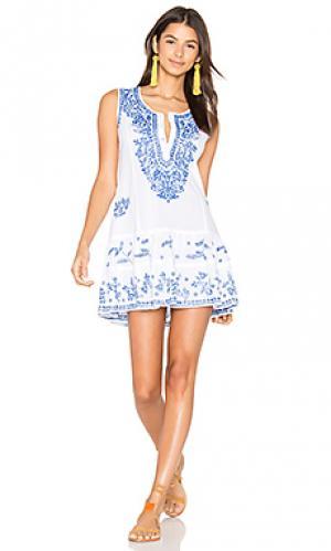 Цельнокройное пляжное платье juliet dunn. Цвет: белый