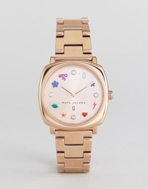 Marc Jacobs Часы цвета розового золота. Цвет: золотой