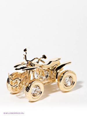 Фигурка Мотоцикл 4-х колесный Юнион. Цвет: золотистый