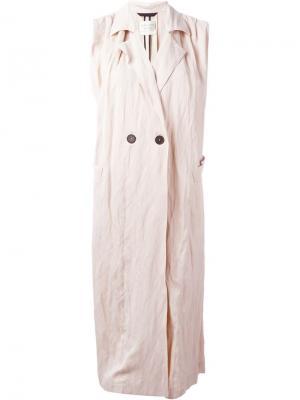 Пальто без рукавов Forte. Цвет: розовый и фиолетовый