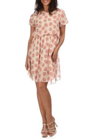 Платье AZURA. Цвет: бежевый