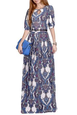 Длинной платье с принтом FRANCESCA LUCINI. Цвет: фиолетовый, фейерверк