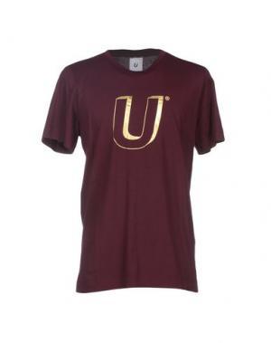 Футболка U CLOTHING. Цвет: баклажанный