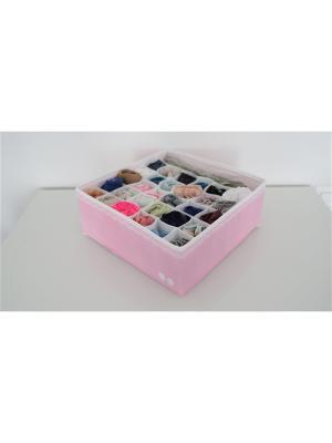 Органайзер для белья (для трусов) Большой Berry Cake розовый - коробки хранения Trendyco. Цвет: розовый