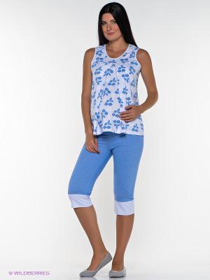 Пижама Nuova Vita. Цвет: голубой, белый