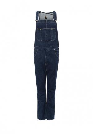Комбинезон джинсовый Lee. Цвет: синий