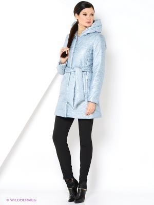 Куртка Анна Чапман. Цвет: серо-голубой