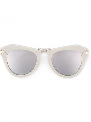 Солнцезащитные очки с массивной оправой Karen Walker Eyewear. Цвет: серый