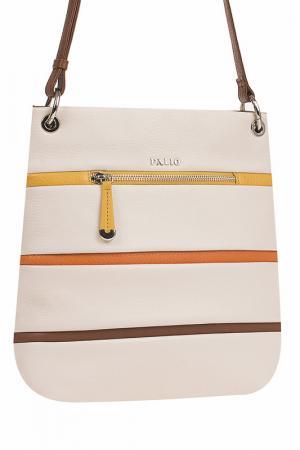 Сумка Palio. Цвет: коричневый, оранжевый, кремовы