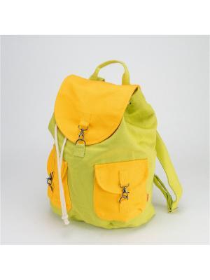Городской рюкзак TIMBAG. Цвет: салатовый, желтый
