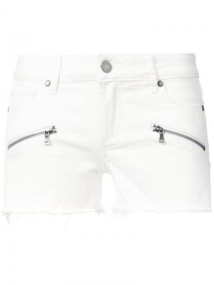 Джинсовые шорты с карманами на молнии Paige. Цвет: белый