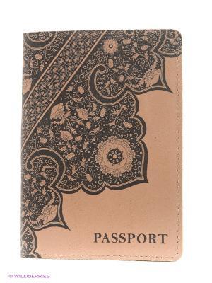 Обложка для паспорта A.Valentino. Цвет: бежевый, черный