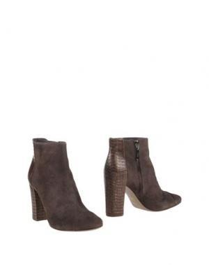 Полусапоги и высокие ботинки AERIN. Цвет: свинцово-серый
