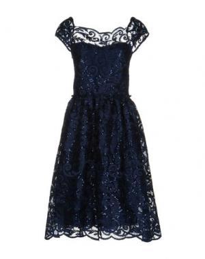 Платье до колена SOALLURE. Цвет: синий