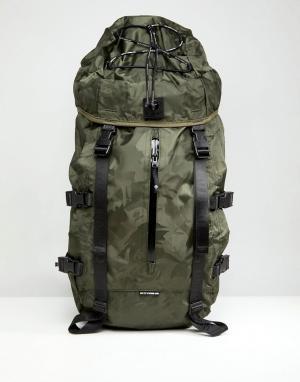 AAPE BY A BATHING APE Большой рюкзак с камуфляжным принтом. Цвет: зеленый