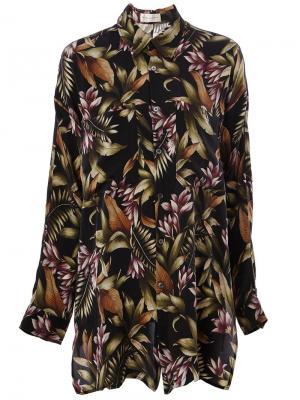 Рубашка с цветочным принтом Faith Connexion. Цвет: чёрный